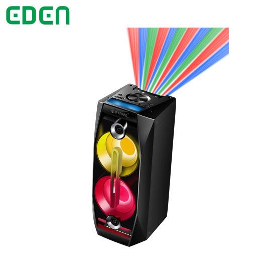 Wireless Professional Portable Rechargeable DJ Karaoke Sound Box Trolley Bluetooth PA Speaker with LED Light ED-802RGB