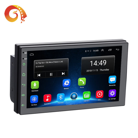 Factory Supply Universal 7 Inch Touch Screen Double 2 DIN Android Auto GPS Navigation Multimedia System Video Radio Stereo Audio Car DVD Player