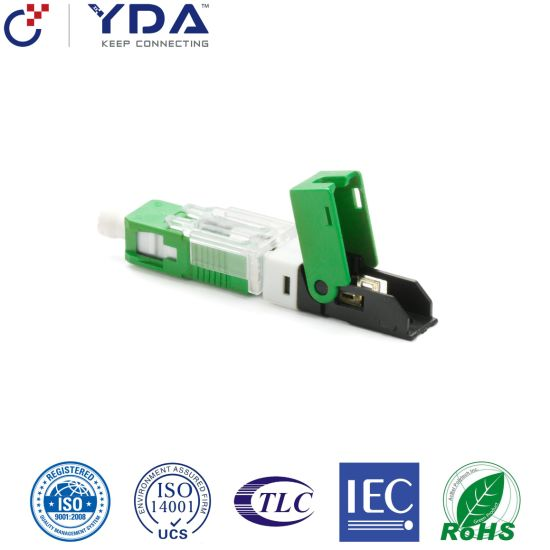 FTTH Cold Shut Type Sc Sc/APC Sc/Upc Fiber Optic Fast Connector/Quick Connector/Field Connector