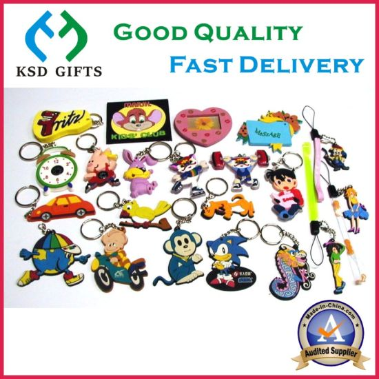 Hot Sell Custom Your Own Logo Soft PVC Keychain