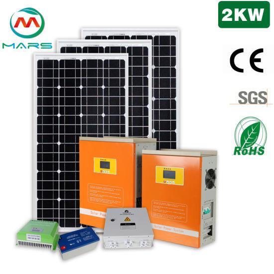 Mars Solar off Grid 2000W Solar Energy System 2kw Home Solar Panel Kit System off Grid Solar Power System