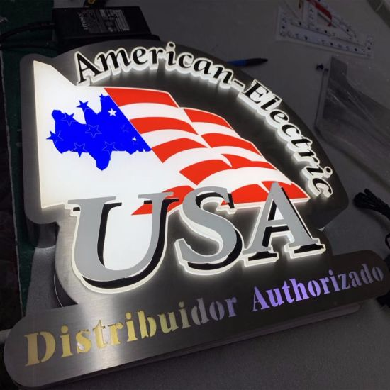 Economical Outdoor Acrylic Frontlit Stainless Steel Stim Letter Sign