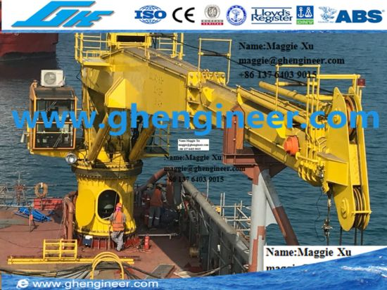 6t35m Ferry Boat Offshore Hydraulic Telescopic Deck Crane pictures & photos