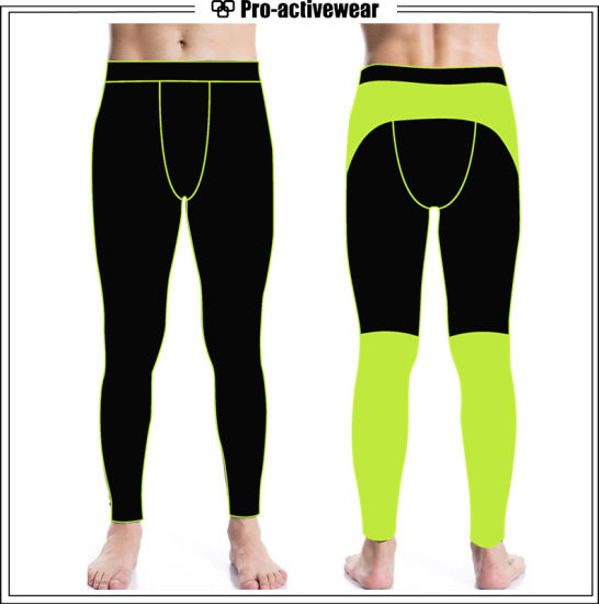 Custom Mens Cotton Running Compression Training Pants Wholesale pictures & photos