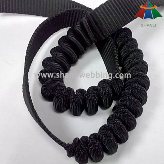 32mm Black Polyester Elastic Bungee Webbing for Outdoor Safety Products