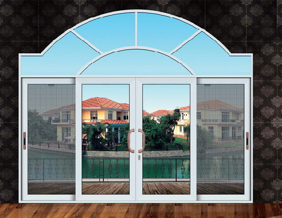 Customiezd Design Double Tempered Glass Aluminum Sliding Door with Screen pictures & photos