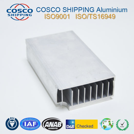 High Precision Aluminum Profile Extrusion for Heatsink with CNC Machining pictures & photos