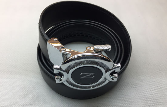 New Design Automatic Buckle Genuine Leather Belts Without Holes