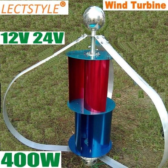 New Model 400W 12V24V Vertical Wind Turbine Generator for Sale pictures & photos
