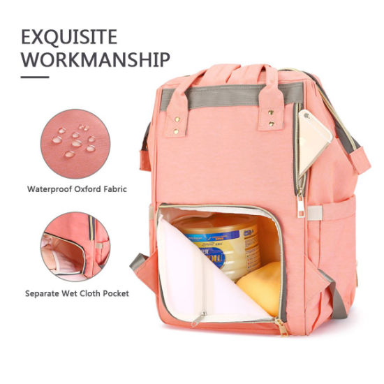 Multi-Function Waterproof Travel Backpack Nappy Bags for Baby Care, Diaper Bag Large Capacity Mummy Backpack