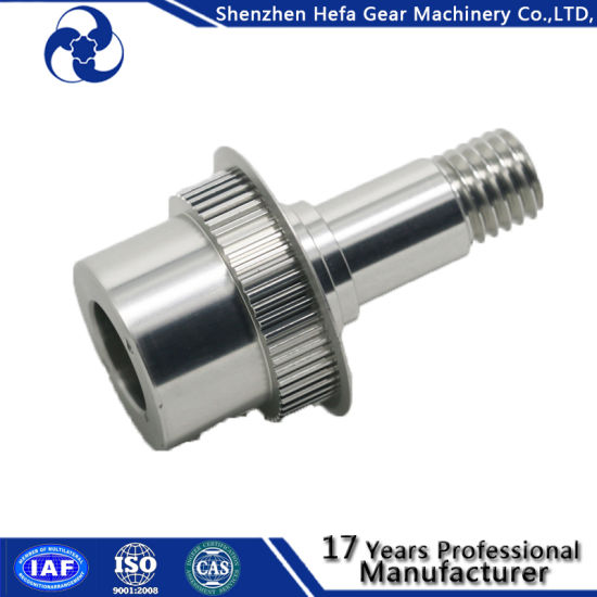 China Transmission Shaft Synchronous T5 T10 Pulley Conveyor Parts