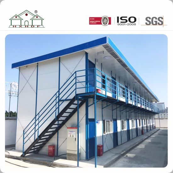 Sandwich Panel 2 Floor Steel Frame Prefab House For Temporary Working  Office. Get Latest Price