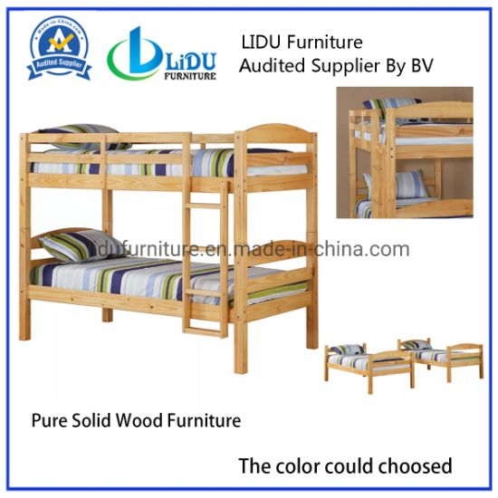 Solid Hardwood Twin Bunk Bed/Wood Bed Full Bunk Bed Twin Bed