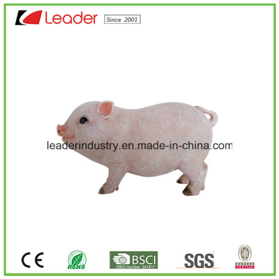 Polyresin Decorative Lifelike Pig Statue for Garden Decoration pictures & photos