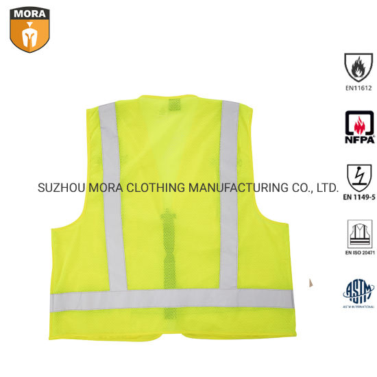 Fire Retardant Clothing Safety Vest for Outdoor Works, Cycling, Jogging, Walking, Sports Fits for Men and Women pictures & photos