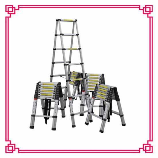 3.8+3.8m Double a Type Telescoping Ladder pictures & photos