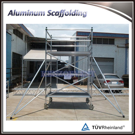 Adjustable Scaffolding For Stairs : China adjustable aluminum mobile scaffold tower with stair