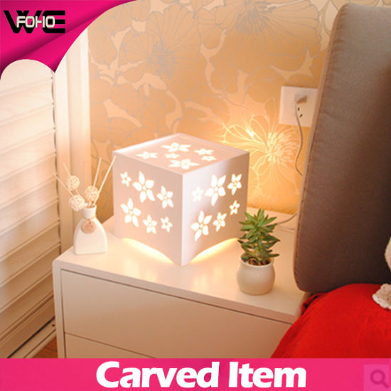 DIY Carved Square Table LED Display Plastic-Wooden Lamp pictures & photos