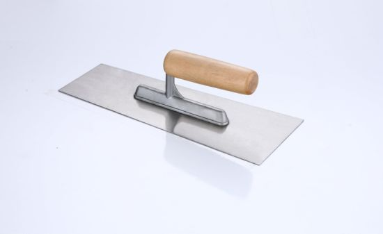 Different Shape Wood Handle Bricklaying Trowel pictures & photos