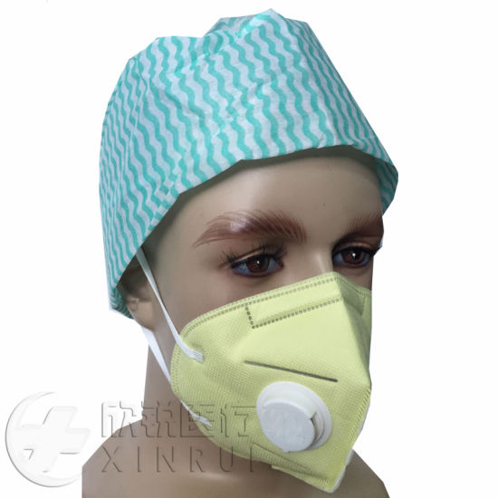 Disposable Industrial Protective N95 Face Mask with Valve Yellow