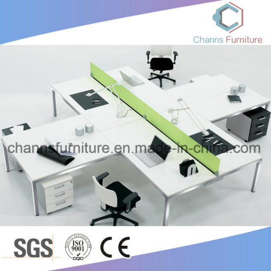 Modern Furniture Cross Computer Desk Office Table Workstation with Partition pictures & photos