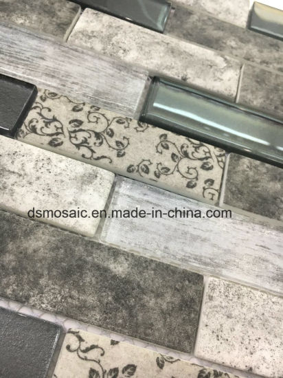 Newest Technology Full Body Interlocking Gray Glass Mosaic Tile pictures & photos