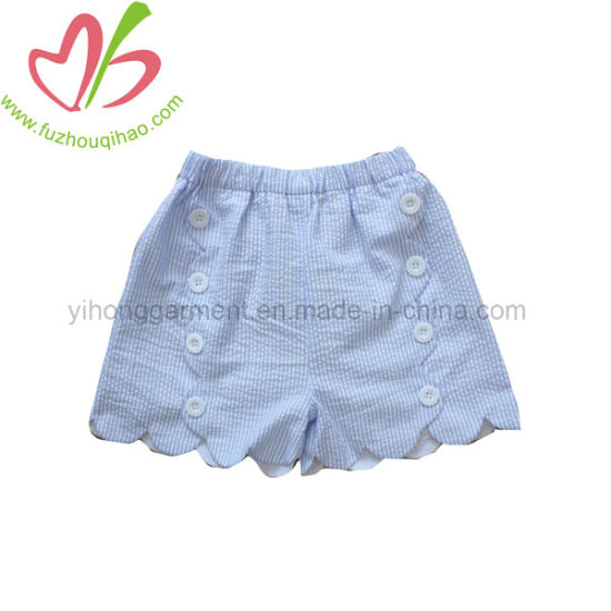 Seersucker Short Pants for Baby Girl in Summer
