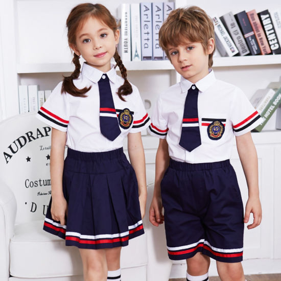 China 65% Cotton 35% Polyester Kindergarten School Uniforms Shirts