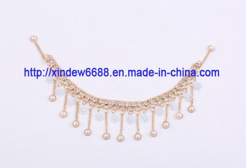 Copper Shoe Chain Rhinestone Shoe Decoration for Women Shoe