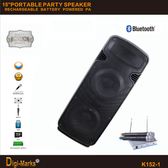 Guangzhou New Design Portable Wireless Bluetooth Speaker with LED Light pictures & photos