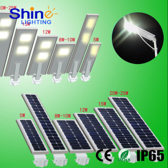 3 Years Warranty Outdoor Waterproof IP65 Integrated LED Solar Street Light pictures & photos