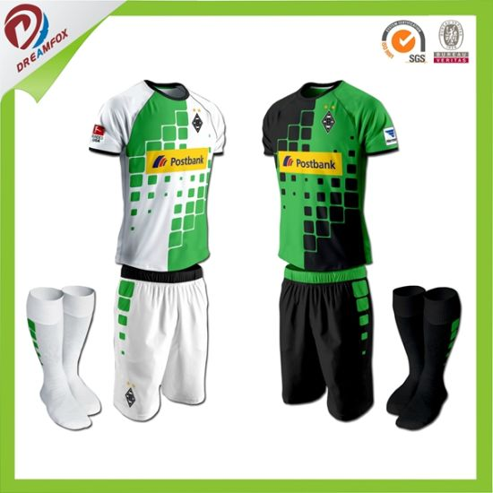 Custom Made Dye Sublimation Dry Fit Polyester Soccer Jersey pictures & photos