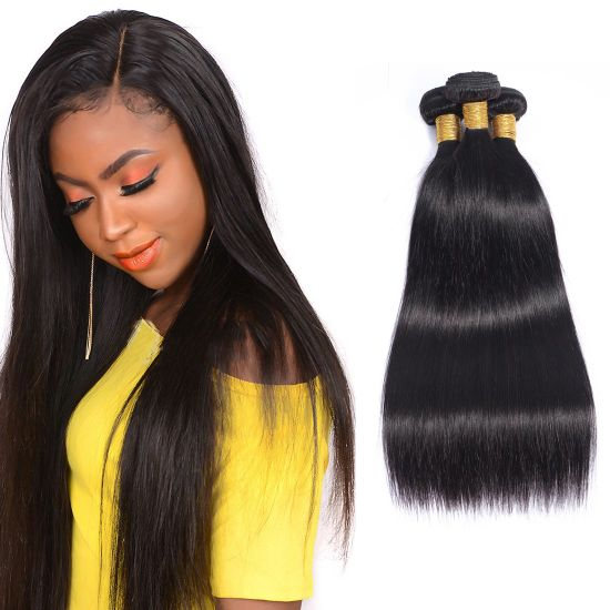 9A Remy Straight Human Hair Weaving Bundles 14inches pictures & photos