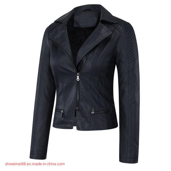 Wholesale Outerwear Jackets Women's Winter Coat Black Faux Leather Jacket Tactical Jacket Trench Coats Wholesale Apparel Leisure Wear Plus Size Shearling Coats