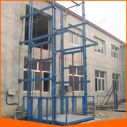 Electric Hydraulic Guide Rail Chain Construction Elevator Lift with High Quality pictures & photos