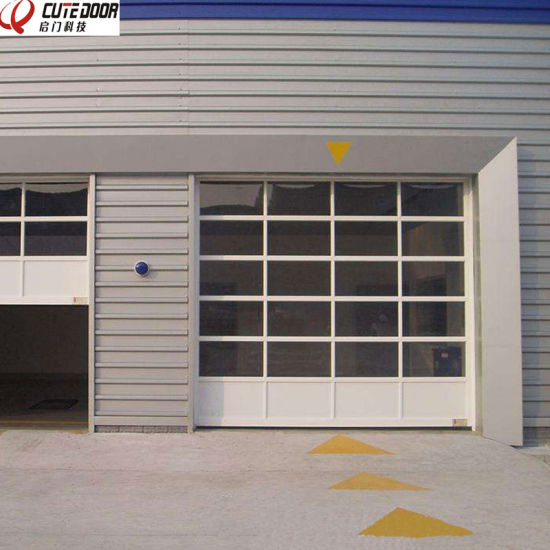 Fast Automatic Security Aluminum Sectional Glass Perspective Shutter Door pictures & photos