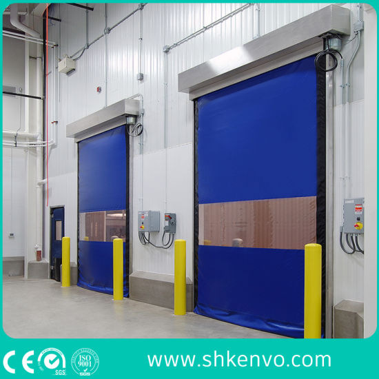Industrial Automatic Flexible High Speed Overhead Rolling Shutter Door for Warehouse or Factory
