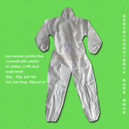 PP+PE/SMS/CPE/PE/PP Disposable Protective Coverall