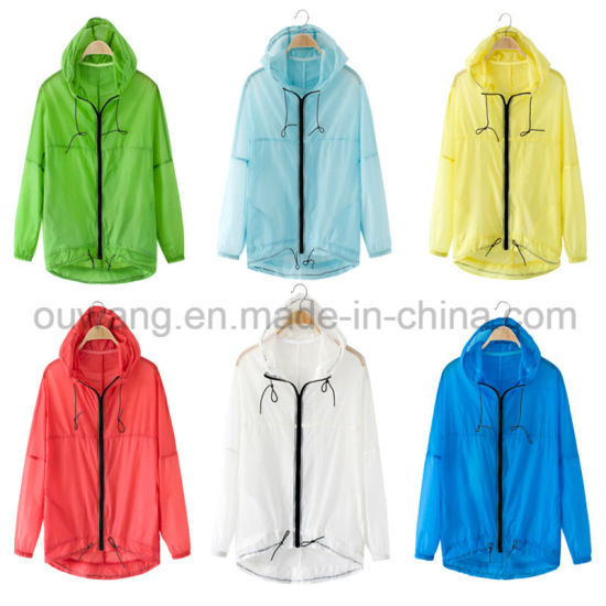 Wholesale Summer Lightweight Jacket Breathable Sun Protective Clothing for Promotion pictures & photos