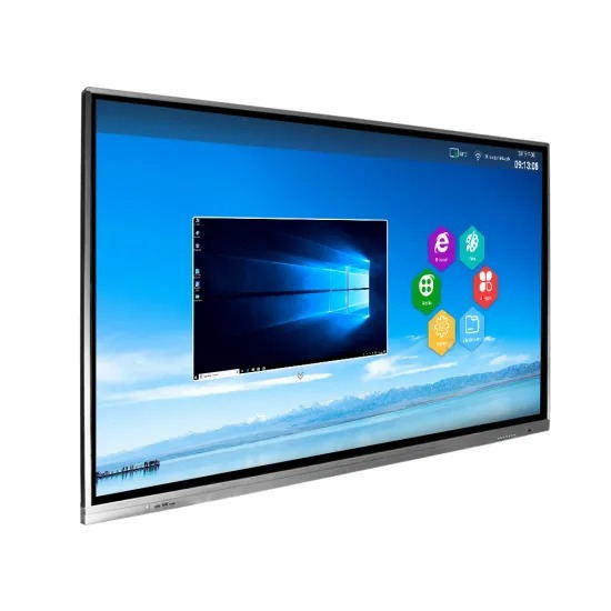 55 Inch Standing Floor Interactive Whiteboard Ad Player Touch Screen Display Vertical and Ultra-Thin Advertising Machine
