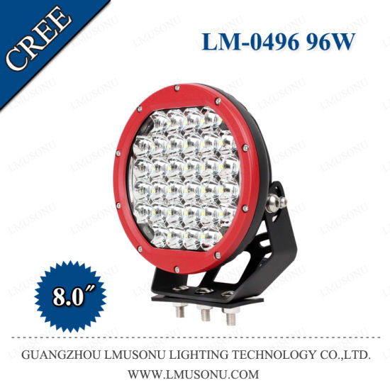 8 Inch 96W LED Driving Light for Cars