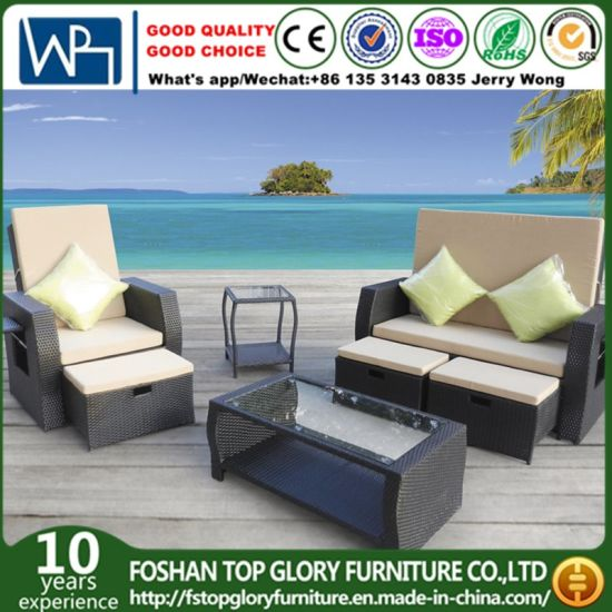 China Cheap Patio Garden Furniture Waterproof Outdoor Rattan Sofa ...