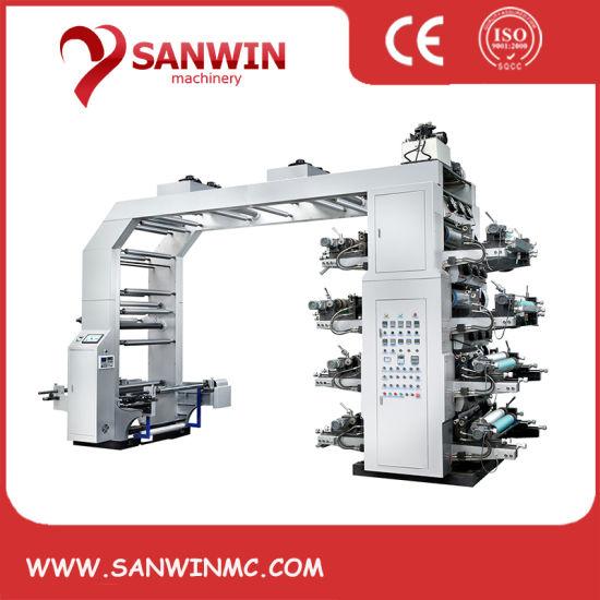 High Speed Flexo Flexographic Non Woven Fabric Plastic Film Printing Machine