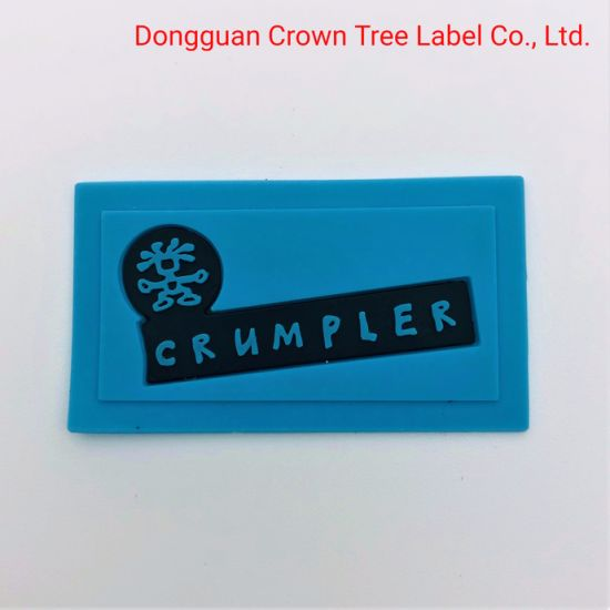 Silicone Circular Label Brand Name Logo with Garment Decoration