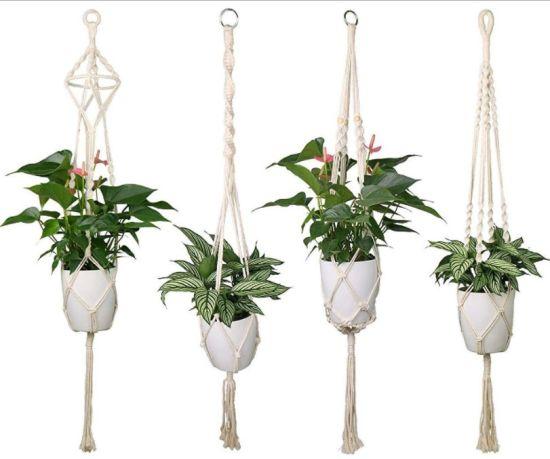 Handmade High Quality Organic Macrame Plant Hanger for Outdoor Indoor