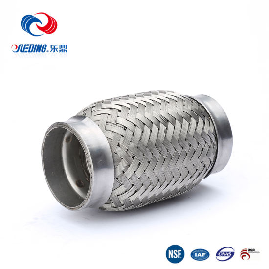 2.5/'/'x 5/'/' Stainless Steel Exhaust Pipes Double Braided Flex Connector