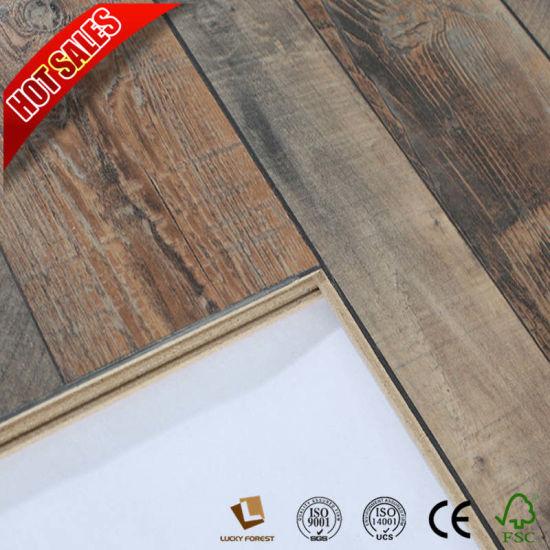 Melamine Laminate Flooring 12mm Ac4 Class32 China Hardwood
