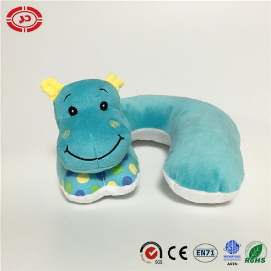 Hippo Blue Safe Standard OEM Baby Neck Pillow pictures & photos
