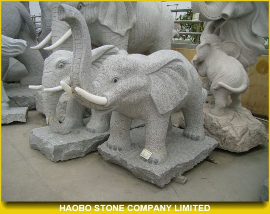 Large Elephant Granite Statues