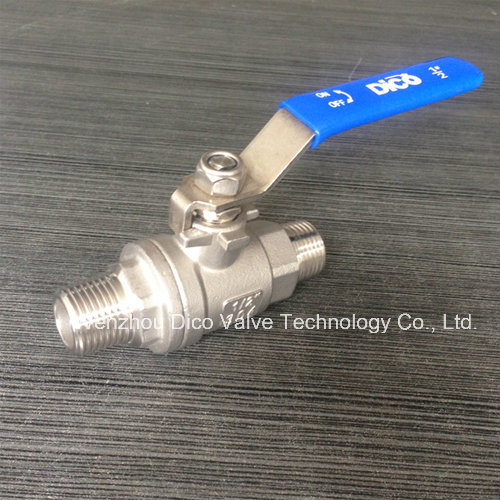 China Bsp/BSPP Thread 2 Pieces Ball Valve for Male Thread